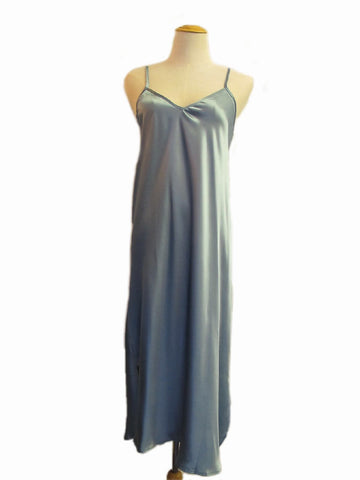 Shoe String Slip Nightdress - Blue, [product type], Lullaby New Zealand