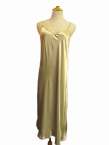 Shoe String Slip Nightdress - Champagne, [product type], Lullaby New Zealand