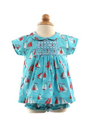 Jolie Smocked Dress and Pants, [product type], Lullaby New Zealand