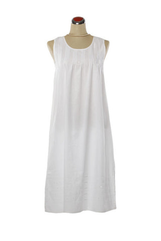 Pintuck White Nightdress - Nightdress -  - Lullaby New Zealand