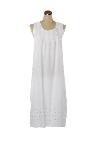 Pintuck Taupe Nightdress - Nightdress -  - Lullaby New Zealand