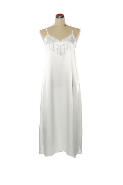 Silk Satin Candy Nightdress - Nightdress - Small / White - Lullaby New Zealand - 6