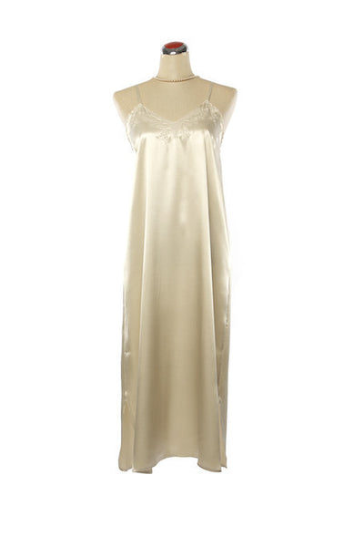 Silk Satin Candy Nightdress - Nightdress - Small / Champagne - Lullaby New Zealand - 4