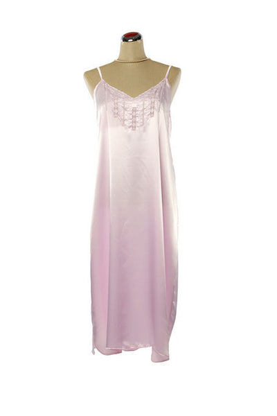 Silk Satin Candy Nightdress - Nightdress - Small / Pastel Pink - Lullaby New Zealand - 5