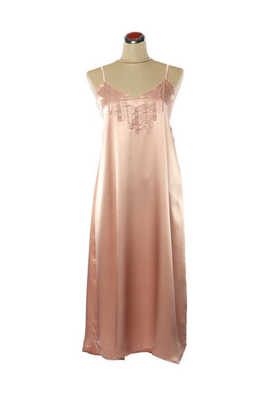 Silk Satin Candy Nightdress - Nightdress - Small / Blush Pink - Lullaby New Zealand - 2