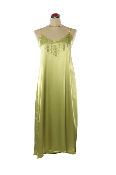 Silk Satin Candy Nightdress - Nightdress - Small / Green - Lullaby New Zealand - 3
