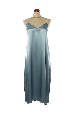 Silk Satin Candy Nightdress - Nightdress - Small / Blue - Lullaby New Zealand - 1