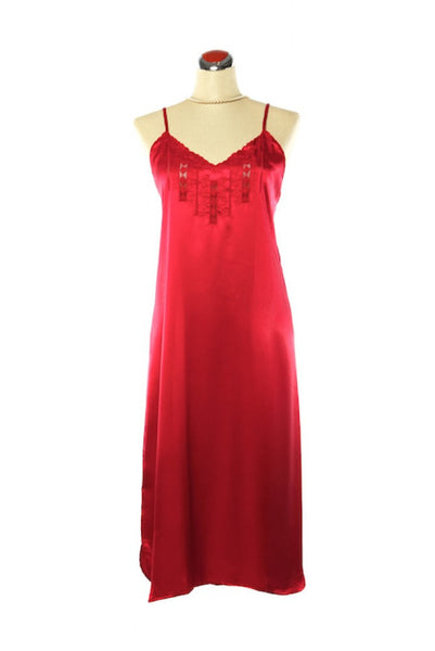 Silk Satin Candy Nightdress - Nightdress - Small / Red - Lullaby New Zealand - 7