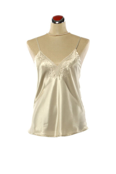Silk Camisole - Nightdress - Small / Champagne - Lullaby New Zealand - 1