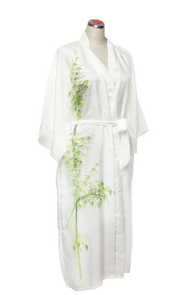 Kimono Style Silk Robe - Night Robe - One Size / Bamboo - Lullaby New Zealand - 1