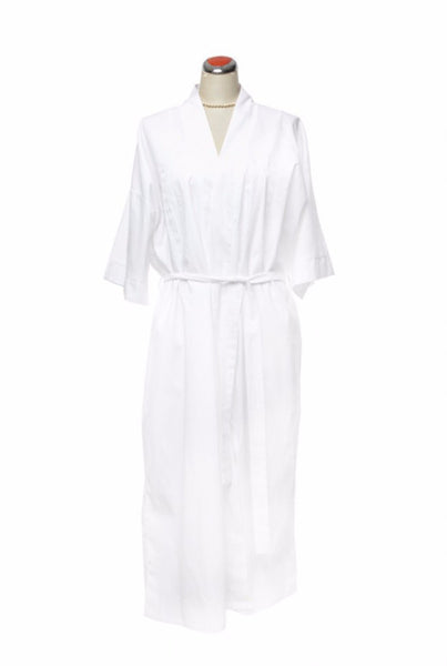 Cotton Robe, with white embroidery - Night Robe -  - Lullaby New Zealand - 2