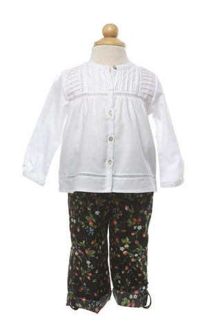 White Long Sleeve Shirt, [product type], Lullaby New Zealand