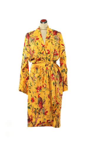 Kimono Bird Robe - Orange - Robe -  - Lullaby New Zealand