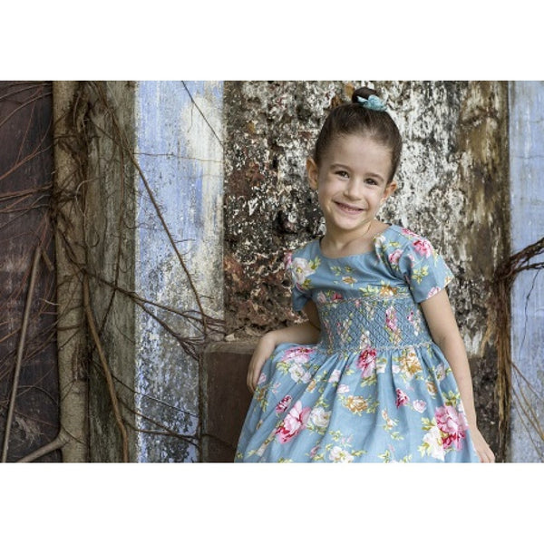 Rose Smocked Dress - Dress -  - Lullaby New Zealand - 2