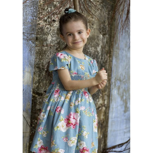Rose Smocked Dress, [product type], Lullaby New Zealand