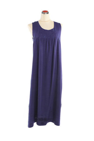 Pintuck Nightdress - Nightdress - Small / Royal Blue - Lullaby New Zealand - 3