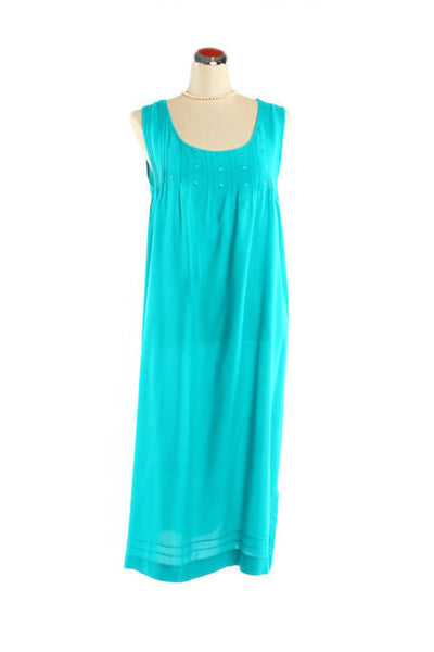 Pintuck Nightdress - Nightdress - Small / Teal - Lullaby New Zealand - 2