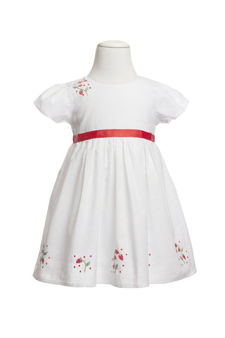 Sienna Strawberry Dress, [product type], Lullaby New Zealand