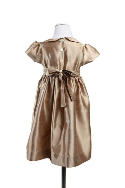 Alice Silk Gold - Dress -  - Lullaby New Zealand - 2