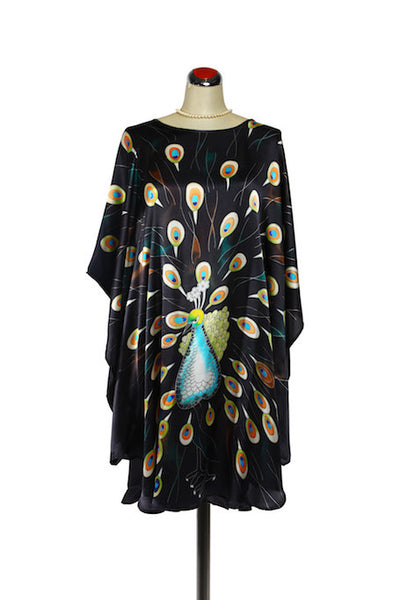 Silk Kaftan Peacock - Kaftan -  - Lullaby New Zealand - 1
