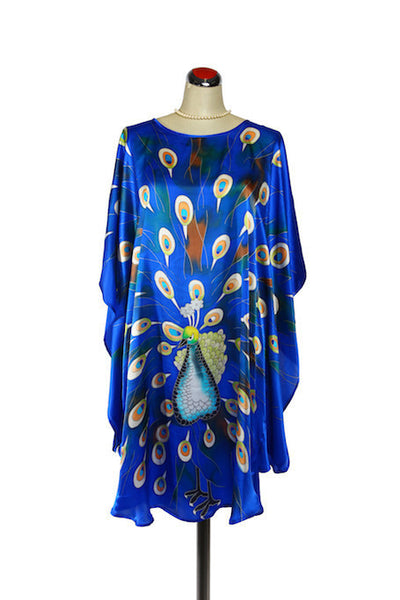 Silk Kaftan Peacock - Kaftan -  - Lullaby New Zealand - 2