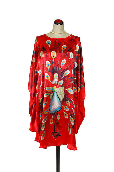 Silk Kaftan Peacock, [product type], Lullaby New Zealand