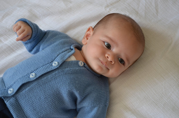 soft, warm, comfortable and gorgeous merino cardigans for our littlies.  This little cardigan is available in lots of colours, and sizes up to three years.  So cosy, and gentle machine washable. Ted looks beautiful in his Cornflower blue cardigan.  Available through our on line store.