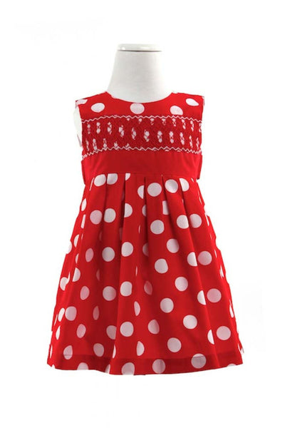 Alana Smocked Dress - Red Dress  - Lullaby New Zealand - 1