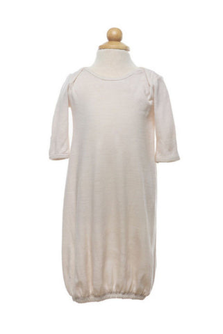 Merino Baby Gown - Gown -  - Lullaby New Zealand - 1