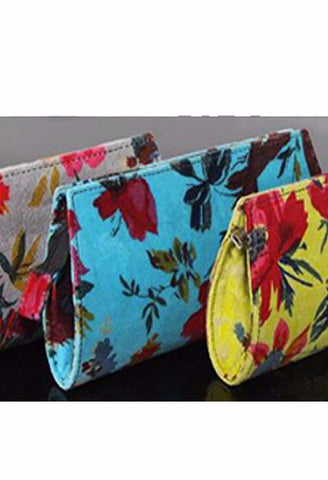 Floral Velvet Clutch Bag - Accessories -  - Lullaby New Zealand - 1