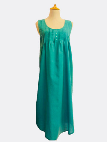 Pintuck Nightdress - Jade