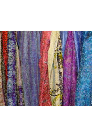 Silk Kantha Scarf - Scarf -  - Lullaby New Zealand - 1