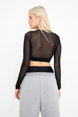Performance Cropped Top - Black