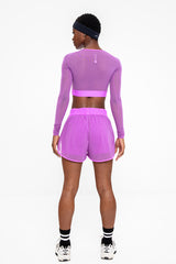 Performance Cropped Top - Lilac
