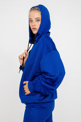 Oversized Hoodie - Royal Blue