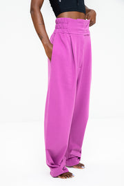 High Waisted Sweatpants - Lilac