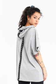 Oversized Lucky Numbers Tee - Grey
