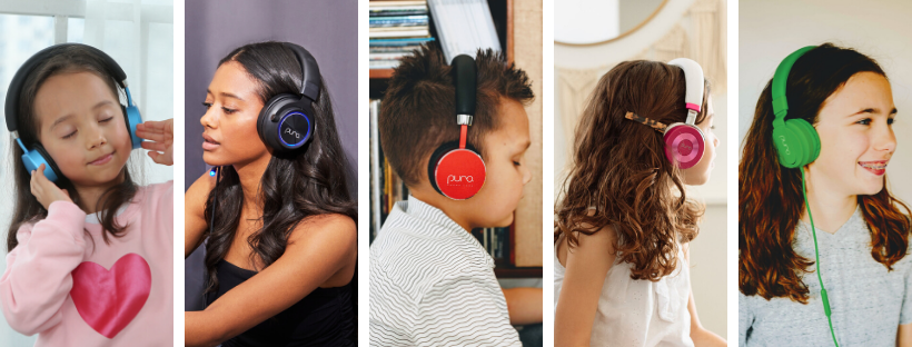 Puro Sound Labs volume limited headphones for kids