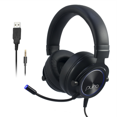 PuroGamer Volume Limited Gaming Headset With USB & 3.5mm Connections