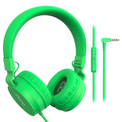 PuroBasic Wired Volume Limited Headphones-Green