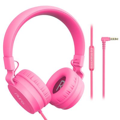 PuroBasic Wired Volume Limited Headphones-Pink