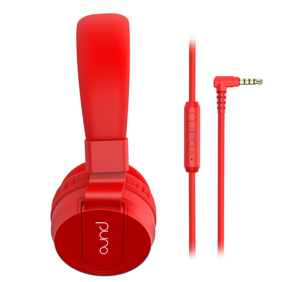 PuroBasic Wired Volume Limited Headphones with In-line Mic