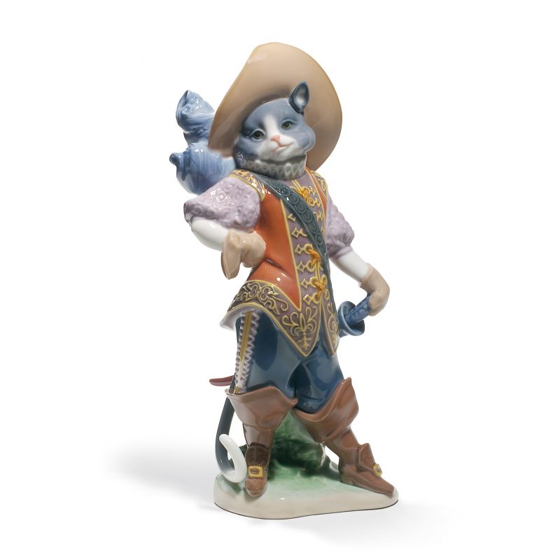 Lladro Puss in Boots Cat Figurine