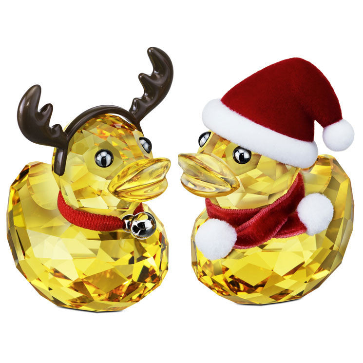 Swarovski Happy Ducks Santa & Reindeer