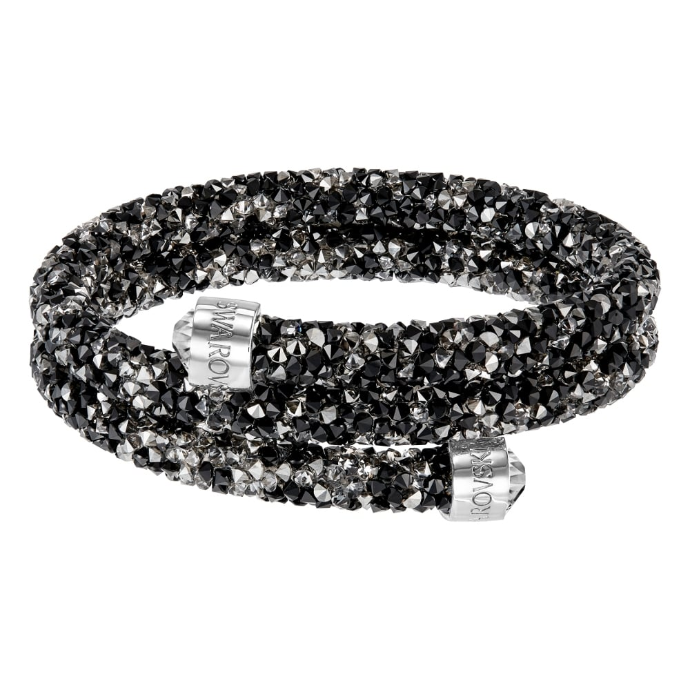 4ef2c1351e41a Swarovski Crystaldust Bangle Double Dark
