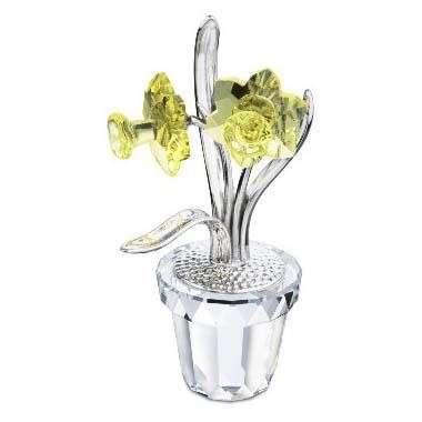 SWAROVSKI CRYSTAL MEMORIES - NARCISSUS RHODIUM