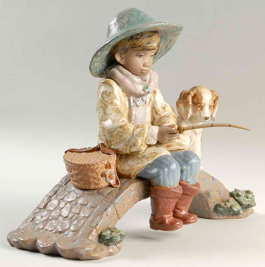 Lladro The Old Fishing Hole Figurine