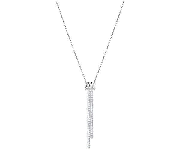 SWAROVSKI LIFELONG Y PENDANT, WHITE, RHODIUM PLATING