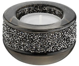SWAROVSKI SHIMMER TEA LIGHT HOLDER , GRAY