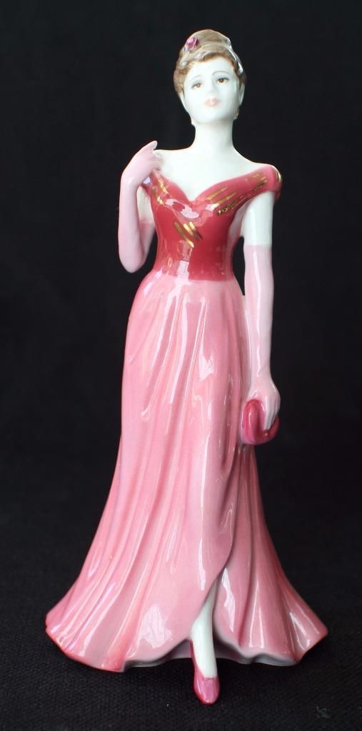 Coalport Lady In Red Figurine